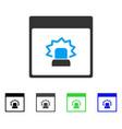 alert calendar page flat icon vector image vector image