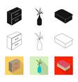 bedroom and room logo set vector image vector image