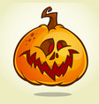 cartoon pumpkin head with an evil expression vector image