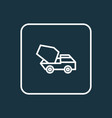 cement vehicle outline symbol premium quality vector image