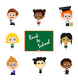 children with blackboard vector image vector image