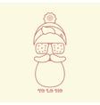Christmas Card of Santa vector image vector image