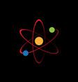circle orbit science planet logo vector image vector image