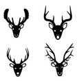 Collection of silhouettes of deer heads vector image