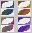Colorful fractal art business card design set vector image vector image
