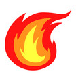 colors fire icon vector image