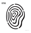 Creative Fingerprint Template Icon vector image vector image
