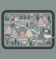 cute hand drawn scandinavian background vector image vector image