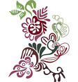 Embroidery traditional design vector image vector image