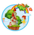 fairy tale story scene vector image vector image