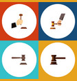 flat icon lawyer set of legal crime government vector image vector image