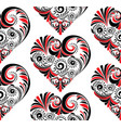 folk floral heart vector image vector image