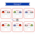 football world cup 2018 scheduleinternational vector image vector image