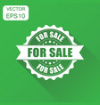for sale rubber stamp icon business concept for vector image vector image