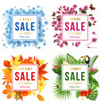 four seasons sale vector image vector image