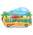 friends come truck to summer resort traveler vector image