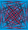 geometric smooth red and black lines on a blue vector image vector image