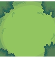 Gree background bushes and grass vector image