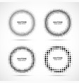 halftone circle frame dots logo emblem set vector image