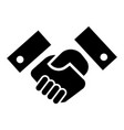 handshake icon simple style vector image