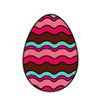happy easter egg painted vector image vector image