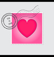 Happy Valentines Day Postage Stamp vector image vector image