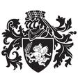 heraldic silhouette No24 vector image vector image