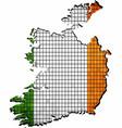 ireland map grunge mosaic vector image
