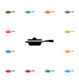 isolated cookery icon preparation element vector image vector image
