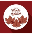 Leaves of Thanks given design vector image vector image