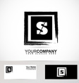 Letter S logo grunge square vector image vector image