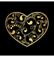 luxury gold heart vector image