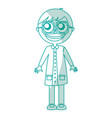 male nerd avatar character vector image vector image