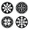 Mandala floral icon set Stylized ornaments of vector image vector image