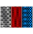 metal perforated backgrounds red blue and silver vector image vector image