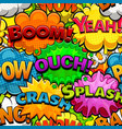 multicolored comics speech bubbles seamless patter vector image vector image
