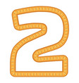 number two bread icon cartoon style vector image