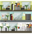 Office interior concept posters banners in vector image