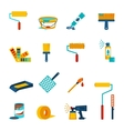Painting icons flat vector image vector image