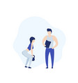 personal trainer and girl doing deadlift vector image vector image