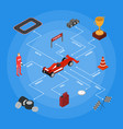 racing sport concept isometric view vector image vector image