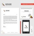 rocket business letterhead calendar 2019 and vector image vector image