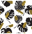 Seamless pattern made from the Monstera leaves vector image