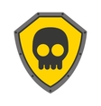 security shield with skull isolated icon design vector image vector image