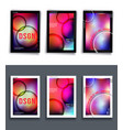 set colorful gradient background template vector image vector image