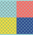 set fish scales seamless patterns vector image vector image