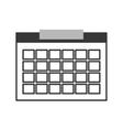single calendar icon vector image
