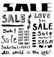 Sketch sales lettering in vintage style vector image