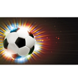 Soccer ball and fireworks vector image vector image