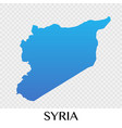 syria map in asia continent design vector image
